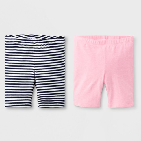 Toddler Girls' Trouser Shorts - Cat & Jack™ Neon Pink - image 1 of 1