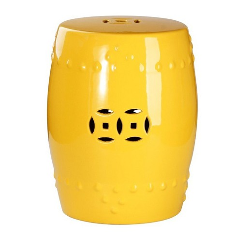 Marcela Ceramic Garden Stool - Yellow - Abbyson - image 1 of 3