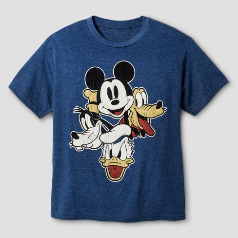 Boys' Mickey Mouse Short Sleeve T-Shirt - Navy Heather - image 1 of 1
