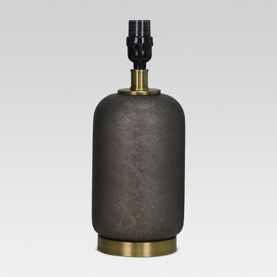 Dark Glass with Brass Detail Small Lamp Base Black Includes Energy Efficient Light Bulb - Threshold™