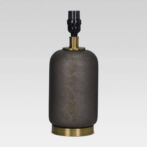 Dark Glass with Brass Detail Small Lamp Base Black - Threshold™ - image 1 of 2