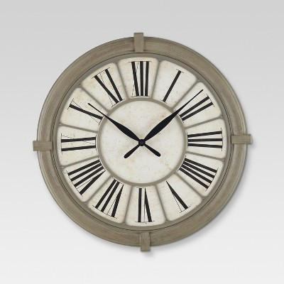 Antique Style Decorative Clock Tan - Threshold™