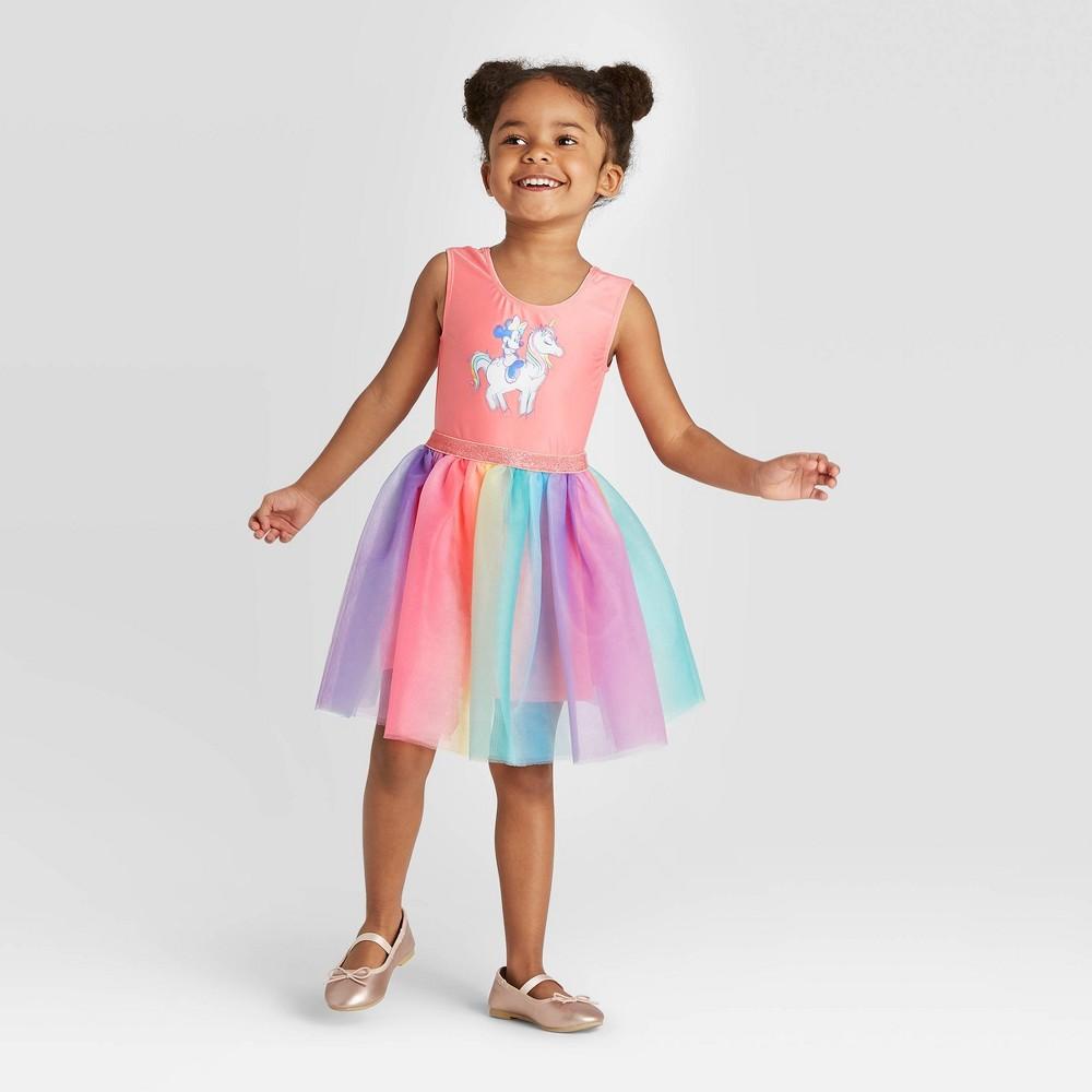 Image of Toddler Girls' Disney Minnie Mouse Sleeveless Tutu Dress- Pink 2T, Girl's