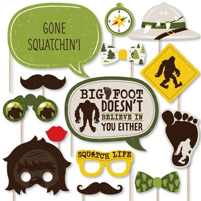 10 Count Bigfoot Party or Birthday Party Fold and Flare Centerpieces Table Decorations Big Dot of Happiness Sasquatch Crossing