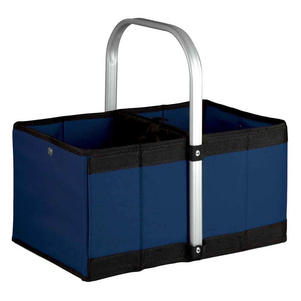 Picnic Time Urban Basket Collapsible Tote - Navy (Blue)