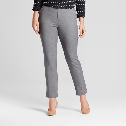 04bb063037a262 Women's Straight Leg Curvy Fit Slim Ankle Pants - A New Day™ : Target