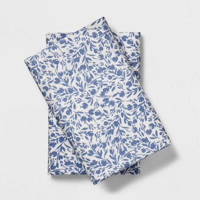 Vintage Washed Pillowcases (King)Purple Floral Ditsy - Threshold™