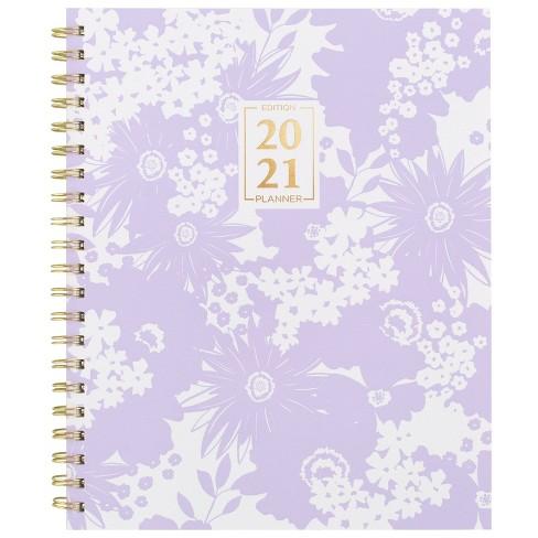 """2021 Planner 8.875"""" x 11"""" Zen Clear Poly Garden Purple - Cambridge - image 1 of 4"""