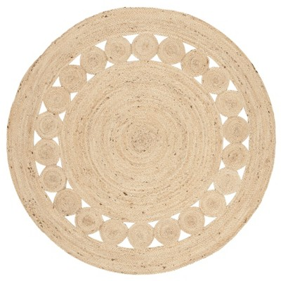 Noemi Solid Woven Round Rug - Safavieh