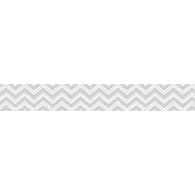 Sweet Jojo Designs Chevron Zig Zag Wall Paper Border- Gray-White