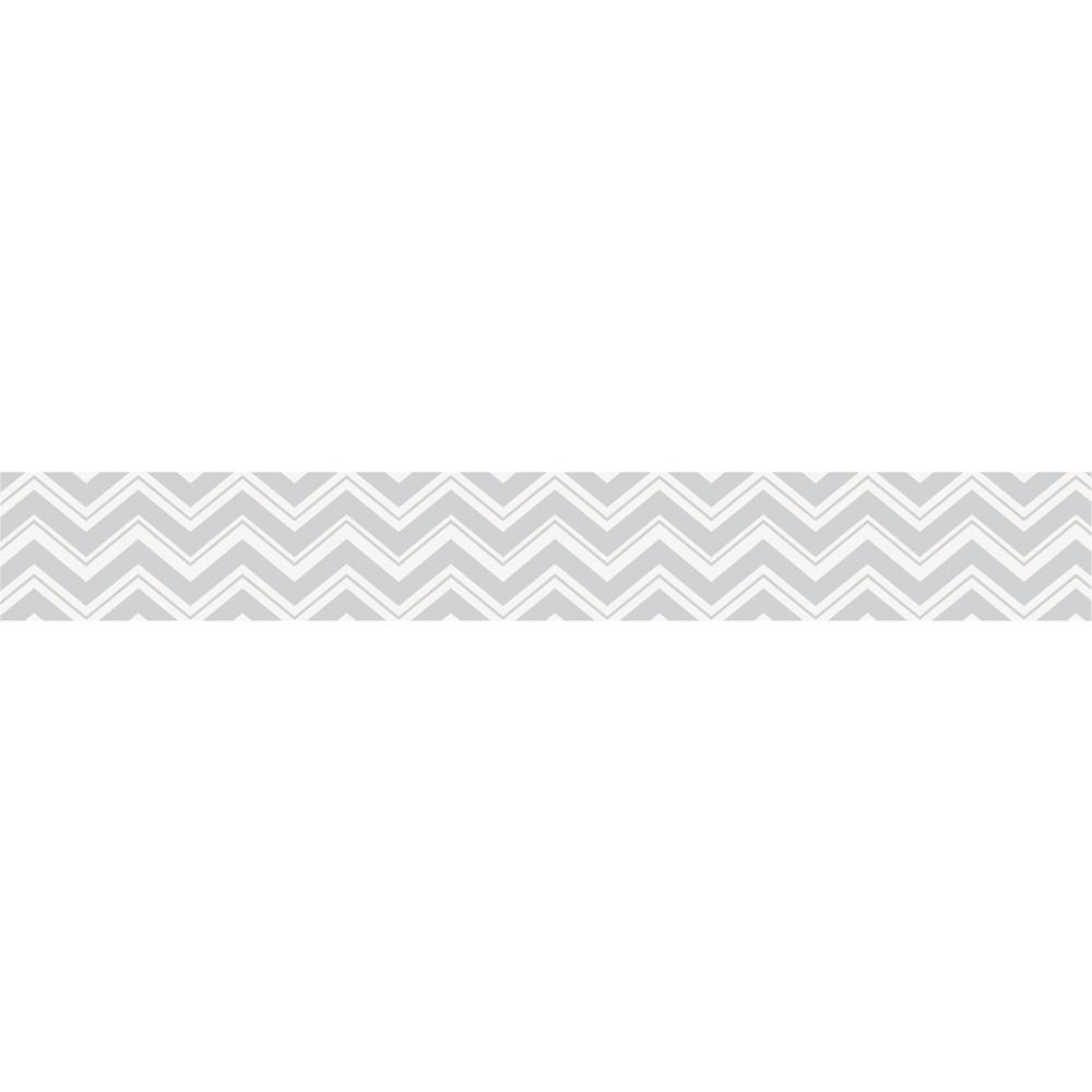 JoJo Designs Chevron Zig Zag Wall Paper Border- Gray-White