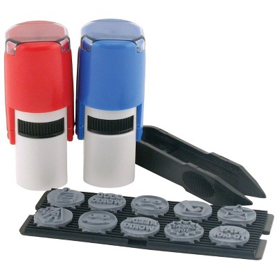 Stamp-ever 10-in-1 Teacher's Stamp Kit and Refill, 3+ Years, pk of 10