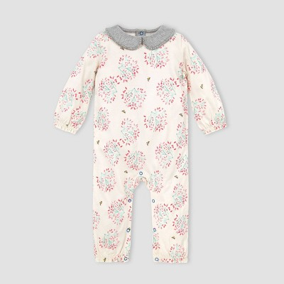 Burt's Bees Baby® Baby Girls' Flowering Dogwood Jumpsuit - Off-White 3M
