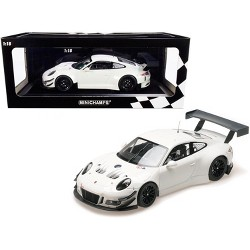 2018 Porsche 911 GT3 R White Limited Edition to 300 pieces Worldwide 1/18 Diecast Model Car by Minichamps