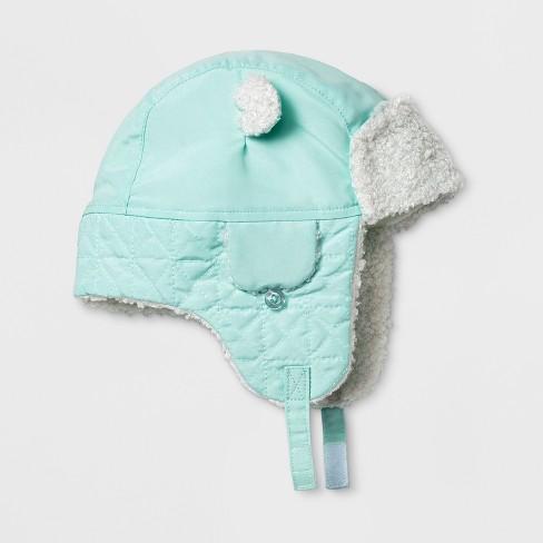 03d76b26969 Baby Boys  Trapper Hat - Cat   Jack™ Blue 0-6 M   Target