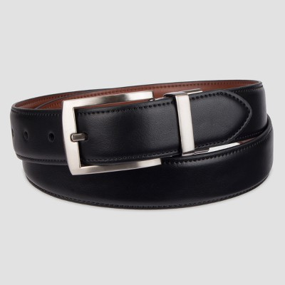 Men's Big & Tall Dress Reversible Stretch Belt - Goodfellow & Co™ Black 4XL
