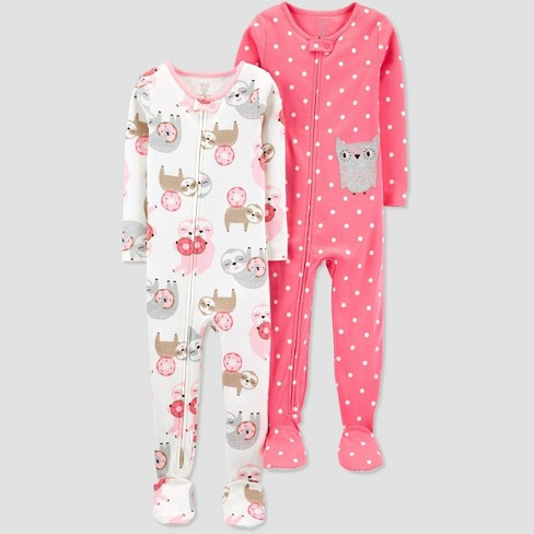 Toddler Girls' Owl One Piece Pajama - Just One You® made by carter's Pink - image 1 of 1