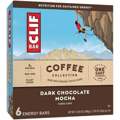 CLIF Bar Coffee Collection Dark Chocolate Mocha - 6ct