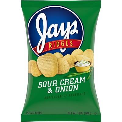 Jays Chips Ridges Sour Cream & Onion Potato Chips - 10oz