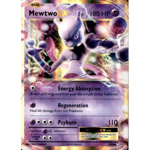 Pokemon X and Y Evolutions Rare Holo ex Mewtwo EX #52 - image 1 of 1