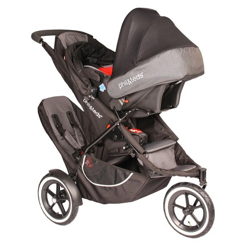 Philteds Classic Inline Stroller With Second Seat Black Target