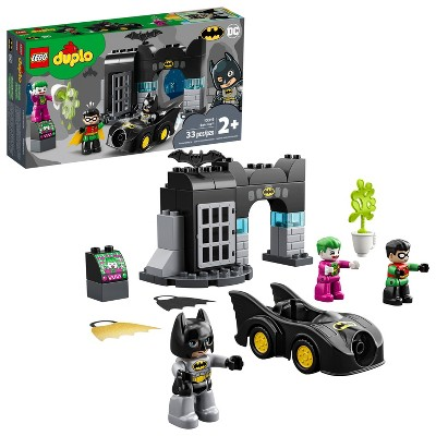 LEGO DUPLO Batman Batcave Action Figure Toy for Toddlers; Creative Building Super Hero Gift 10919
