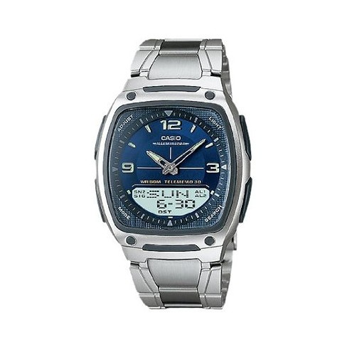 6f075718a Men's Casio Analog And Digital Watch - Blue/Silver (AW81D-2AV) : Target