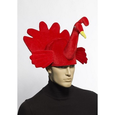 Forum Novelties Plush Red Turkey Costume Hat Adult