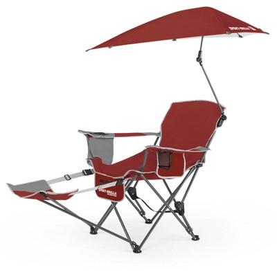 Sport-Brella Portable Recliner Chair - Firebrick Red