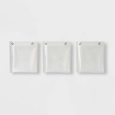 3pk PEVA Medium Weight Shower Liner Clear - Made By Design™