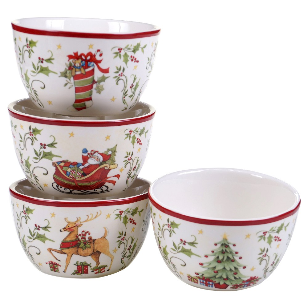 Certified International The Night Before Christmas Ice Cream Bowls 22oz - Set of 4