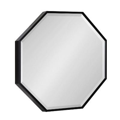 "18"" x 18"" Rhodes Hexagon Wall Mirror Black - Kate & Laurel All Things Decor"