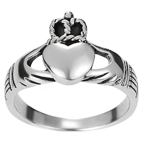 Women's Journee Collection Claddagh Ring in Sterling Silver - Silver - image 1 of 3