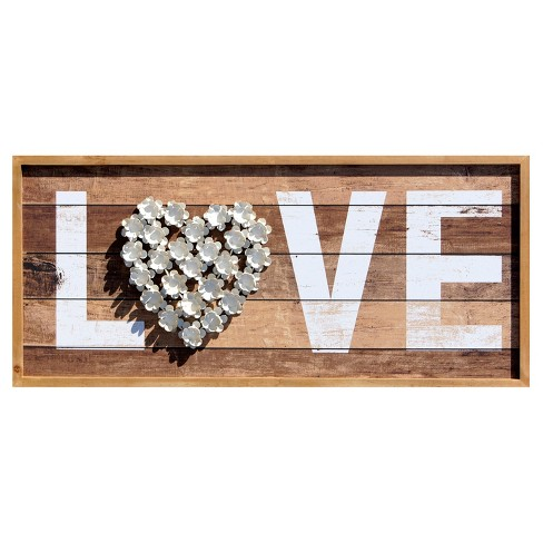 "Love Wall Décor Brown (37""x16"") - VIP Home & Garden - image 1 of 1"