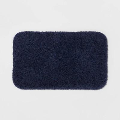 "20""x34"" Perfectly Soft Nylon Solid Bath Rug Navy Blue - Opalhouse™"