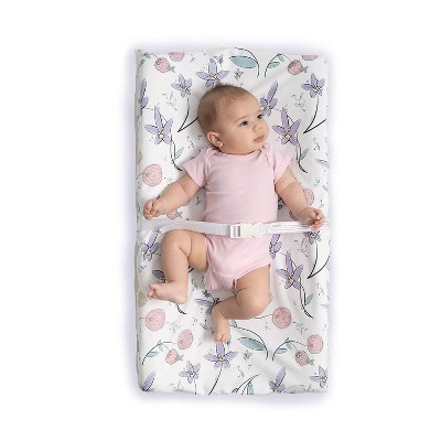 JumpOff Jo Waterproof Fitted Changing Pad Cover - Soft Plush Minky Fabric - Floral Fairy
