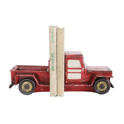 Truck Bookends Set of 2 - Red - 3R Studios