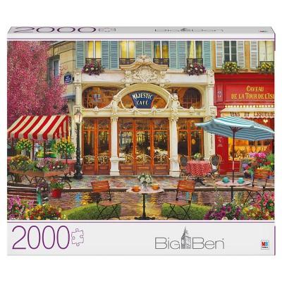 Milton Bradley Gray Board: Majestic Cafe Jigsaw Puzzle - 2000pc