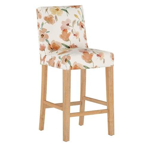 Slipcover Bar Stool Ginny Floral Harvest - Cloth & Company - image 1 of 4