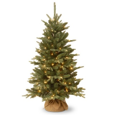 4ft National Christmas Tree Company Burlap Artificial Christmas Tree with 150 Clear Lights