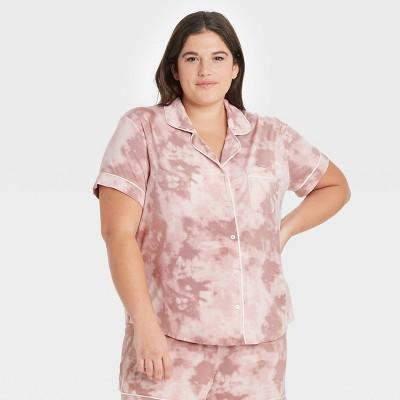 Women's Tie-Dye Beautifully Soft Short Sleeve Notch Collar Top and Shorts Pajama Set - Stars Above™
