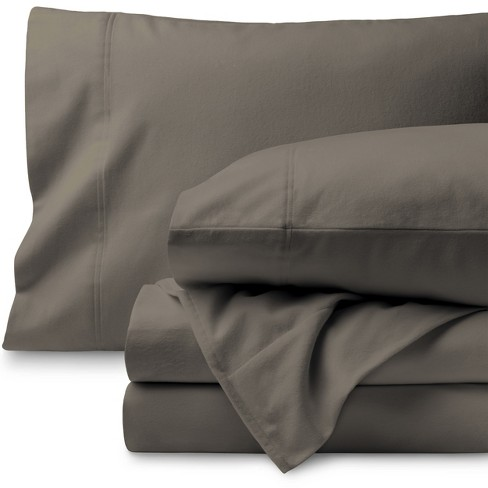 Bare Home Cotton Flannel Sheet Set Twin Xl Taupe Target