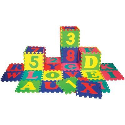 Wonderfoam Alphabet and Number Interlocking Puzzle Mats, set of 72
