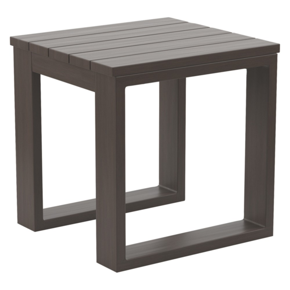 Cordova Reef Square End Table - Dark Brown - Outdoor by Ashley