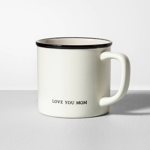 16oz Stoneware Mug Love You Mom Cream - Hearth & Hand™ with Magnolia - image 1 of 2