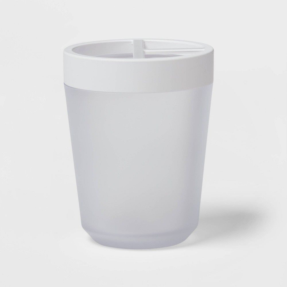 Toothbrush Holder Frosted Room Essentials 8482
