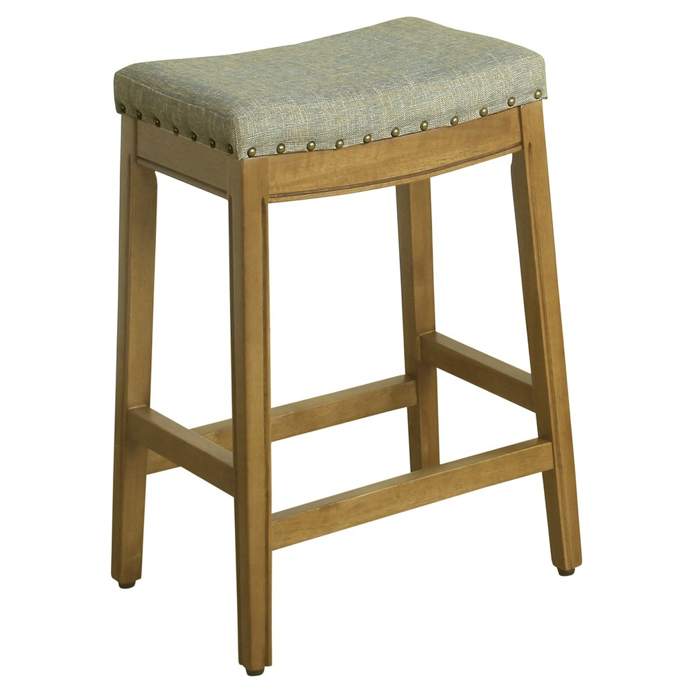 "Image of ""24"""" Blake Backless Counter Stool with Nailheads Marina - HomePop"""