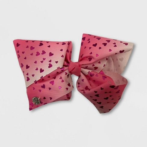 Girls' JoJo Siwa Bow with Hearts - Pink - image 1 of 1