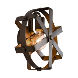 Reel 1 Light Wall Sconce - Rustic Bronze