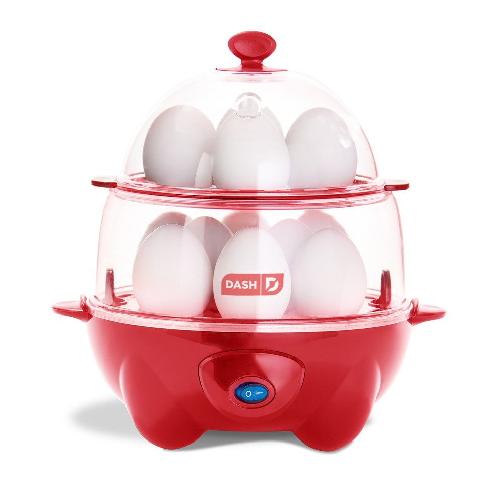 Image of Dash Deluxe Egg Cooker - Red